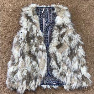 Free people Reversible furry vest